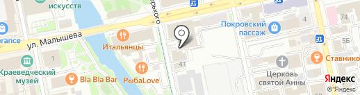 Место на карте Екатеринбурга