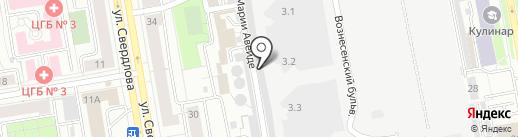 Гаражно-эксплуатационный кооператив №25 на карте Екатеринбурга