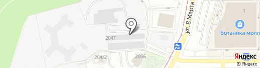 АвтоСтар на карте Екатеринбурга