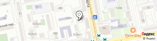 Созвездие на карте Екатеринбурга