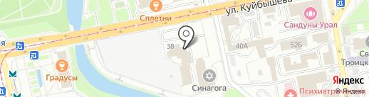 АВРОРА-НЕДВИЖИМОСТЬ на карте Екатеринбурга