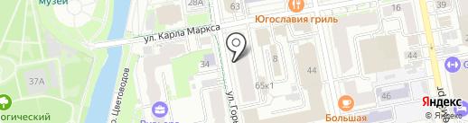 Центр решения задач на Горького 65 на карте Екатеринбурга