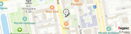 WORKS на карте Екатеринбурга