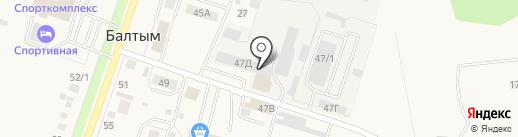 Территория авто на карте Балтыма