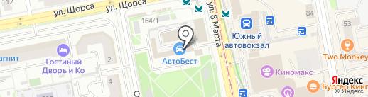ГЛОБАЛУРАЛ на карте Екатеринбурга