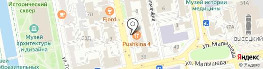 Хачапури для Пушкина на карте Екатеринбурга