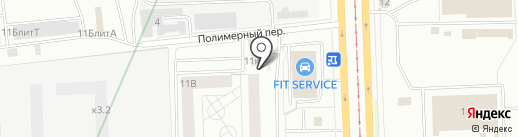 Орион на карте Екатеринбурга