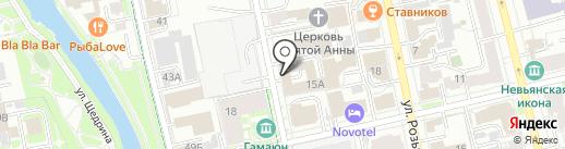 Консульство Украины в г. Екатеринбурге на карте Екатеринбурга