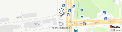 Техмаш на карте Екатеринбурга
