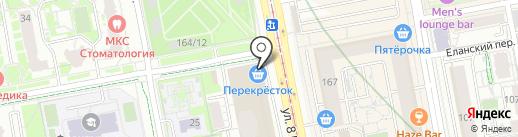 С иголочки на карте Екатеринбурга