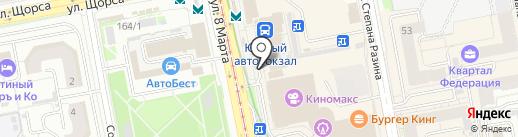 Киоск по продаже радиоэлектроники на карте Екатеринбурга