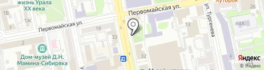 Тантуни на карте Екатеринбурга