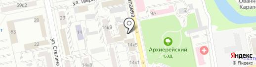 Почетное консульство Италии в г. Екатеринбурге на карте Екатеринбурга