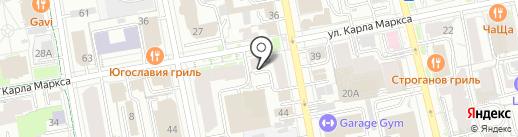 Арбуз на карте Екатеринбурга