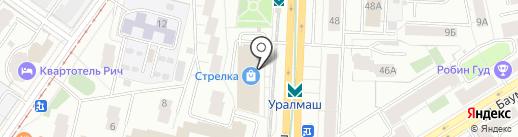 Планета на карте Екатеринбурга