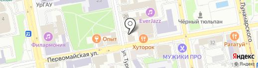 Почетное консульство Австрийской Республики в г. Екатеринбурге на карте Екатеринбурга