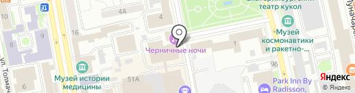 Гавань на карте Екатеринбурга