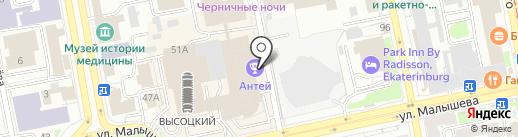 Оптика на карте Екатеринбурга
