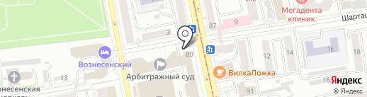 Водолей на карте Екатеринбурга