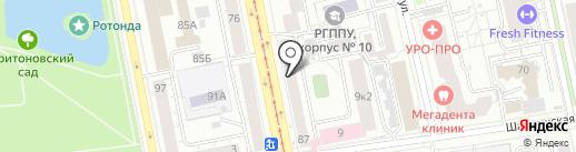 Лион на карте Екатеринбурга