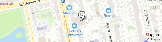 Варежки на карте Екатеринбурга