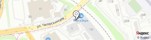 Первый таксомоторный парк на карте Екатеринбурга