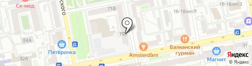 АММААТ на карте Екатеринбурга