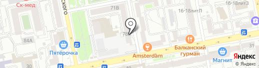 Шашлычная на карте Екатеринбурга