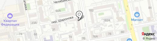 КОН на карте Екатеринбурга