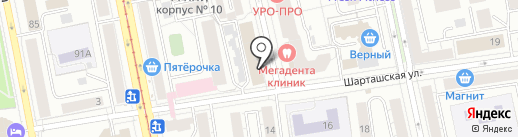 Миларум на карте Екатеринбурга