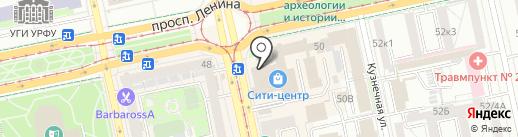 Ногтевая студия Инны Попковой на карте Екатеринбурга