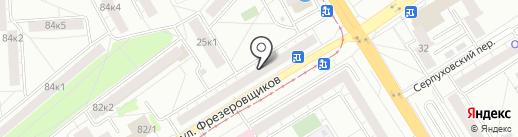 Мегамир на карте Екатеринбурга