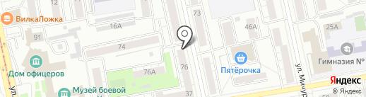 Магазин мяса на карте Екатеринбурга