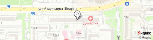 Техосмотр на карте Екатеринбурга