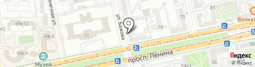 Борода на карте Екатеринбурга