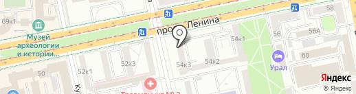 Audiale на карте Екатеринбурга