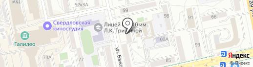 Лаборатория Красоты на карте Екатеринбурга