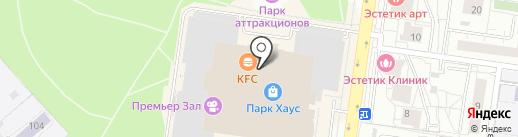 Кидсити на карте Екатеринбурга