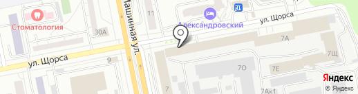 МФК на карте Екатеринбурга