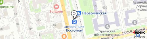 ОКМА на карте Екатеринбурга