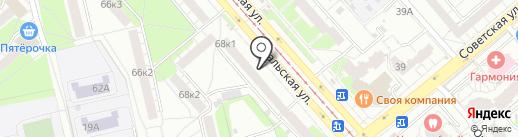 Магазин канцтоваров и игрушек на карте Екатеринбурга