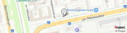 Совкомбанк, ПАО на карте Екатеринбурга