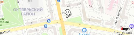 Магазин овощей и фруктов на карте Екатеринбурга