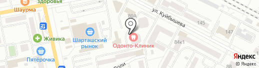 Пёрышки на карте Екатеринбурга