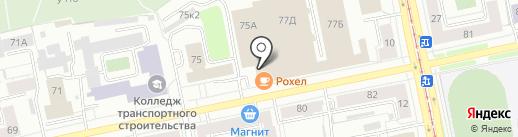 Триумф на карте Екатеринбурга