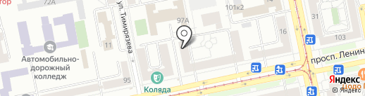 Евросервис на карте Екатеринбурга