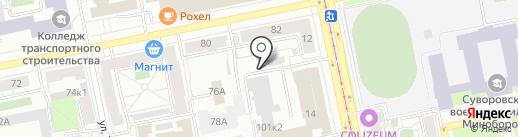 Теледок на карте Екатеринбурга