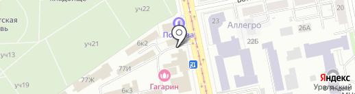 ЕКАТЕРИНБУРГ-КРОВ на карте Екатеринбурга