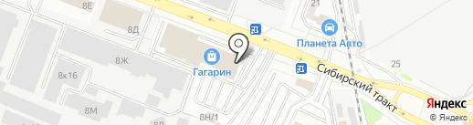 Train Hard на карте Екатеринбурга