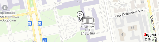 Клуб регби на карте Екатеринбурга